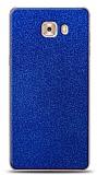 Dafoni Samsung Galaxy C9 Pro Mavi Parlak Simli Telefon Kaplama