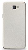 Dafoni Samsung Galaxy J5 Prime Beyaz Parlak Simli Telefon Kaplama