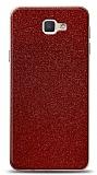 Dafoni Samsung Galaxy J5 Prime Kırmızı Parlak Simli Telefon Kaplama