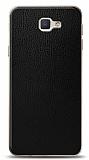 Dafoni Samsung Galaxy J5 Prime Siyah Deri Görünümlü Telefon Kaplama