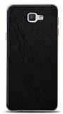 Dafoni Samsung Galaxy J5 Prime Siyah Electro Deri Görünümlü Telefon Kaplama