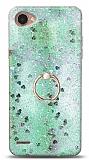 Eiroo Bright LG Q6 Sulu Simli Yeşil Silikon Kılıf