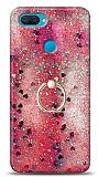 Eiroo Bright Oppo A12 Sulu Simli Kırmızı Silikon Kılıf