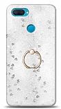 Eiroo Bright Oppo A12 Sulu Simli Silver Silikon Kılıf