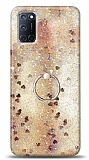 Eiroo Bright Oppo A92 Sulu Simli Gold Silikon Kılıf