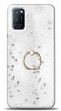 Eiroo Bright Oppo A92 Sulu Simli Silver Silikon Kılıf