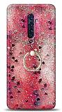 Eiroo Bright Oppo Reno2 Sulu Simli Kırmızı Silikon Kılıf