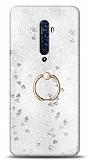 Eiroo Bright Oppo Reno2 Sulu Simli Silver Silikon Kılıf