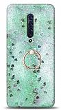 Eiroo Bright Oppo Reno2 Sulu Simli Yeşil Silikon Kılıf