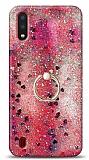 Eiroo Bright Samsung Galaxy A01 Sulu Simli Kırmızı Silikon Kılıf