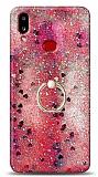 Eiroo Bright Samsung Galaxy A10S Sulu Simli Kırmızı Silikon Kılıf