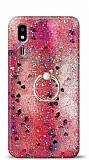Eiroo Bright Samsung Galaxy A2 Core Sulu Simli Kırmızı Silikon Kılıf