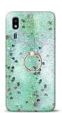 Eiroo Bright Samsung Galaxy A2 Core Sulu Simli Yeşil Silikon Kılıf