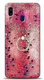 Eiroo Bright Samsung Galaxy A20S Sulu Simli Kırmızı Silikon Kılıf