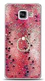Eiroo Bright Samsung Galaxy A3 2016 Sulu Simli Kırmızı Silikon Kılıf