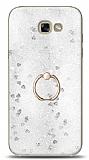 Eiroo Bright Samsung Galaxy A5 2017 Sulu Simli Silver Silikon Kılıf