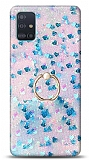 Eiroo Bright Samsung Galaxy A51 Sulu Simli Mavi Silikon Kılıf