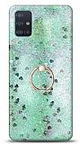 Eiroo Bright Samsung Galaxy A51 Sulu Simli Yeşil Silikon Kılıf