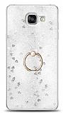 Eiroo Bright Samsung Galaxy A7 2016 Sulu Simli Silver Silikon Kılıf