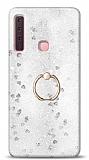 Eiroo Bright Samsung Galaxy A9 2018 Sulu Simli Silver Silikon Kılıf