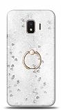 Eiroo Bright Samsung Galaxy J2 Core J260F Sulu Simli Silver Silikon Kılıf