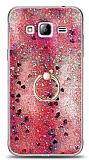Eiroo Bright Samsung Galaxy J3 Sulu Simli Kırmızı Silikon Kılıf