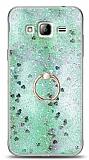 Eiroo Bright Samsung Galaxy J3 Sulu Simli Yeşil Silikon Kılıf