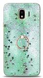 Eiroo Bright Samsung Galaxy J4 Sulu Simli Yeşil Silikon Kılıf