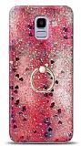 Eiroo Bright Samsung Galaxy J6 Sulu Simli Kırmızı Silikon Kılıf