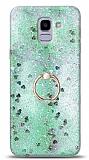 Eiroo Bright Samsung Galaxy J6 Sulu Simli Yeşil Silikon Kılıf