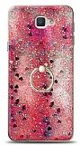 Eiroo Bright Samsung Galaxy J7 Prime / J7 Prime 2 Sulu Simli Kırmızı Silikon Kılıf