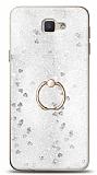 Eiroo Bright Samsung Galaxy J7 Prime / J7 Prime 2 Sulu Simli Silver Silikon Kılıf