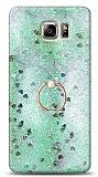 Eiroo Bright Samsung Galaxy Note 5 Sulu Simli Yeşil Silikon Kılıf