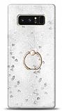 Eiroo Bright Samsung Galaxy Note 8 Sulu Simli Silver Silikon Kılıf
