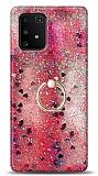 Eiroo Bright Samsung Galaxy S10 Lite Sulu Simli Kırmızı Silikon Kılıf