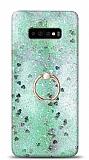 Eiroo Bright Samsung Galaxy S10 Plus Sulu Simli Yeşil Silikon Kılıf