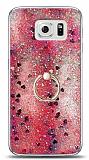 Eiroo Bright Samsung Galaxy S6 Sulu Simli Kırmızı Silikon Kılıf