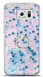 Eiroo Bright Samsung Galaxy S6 Sulu Simli Mavi Silikon Kılıf