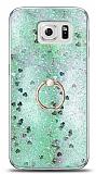 Eiroo Bright Samsung Galaxy S6 Sulu Simli Yeşil Silikon Kılıf