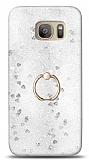 Eiroo Bright Samsung Galaxy S7 Sulu Simli Silver Silikon Kılıf