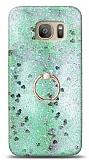 Eiroo Bright Samsung Galaxy S7 Sulu Simli Yeşil Silikon Kılıf