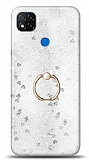Eiroo Bright Xiaomi Poco C3 Sulu Simli Silver Silikon Kılıf