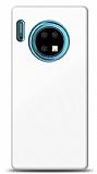 Eiroo Glass Huawei Mate 30 Silikon Kenarlı Cam Beyaz Kılıf