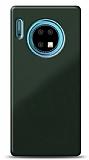 Eiroo Glass Huawei Mate 30 Silikon Kenarlı Cam Koyu Yeşil Kılıf