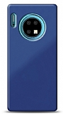 Eiroo Glass Huawei Mate 30 Silikon Kenarlı Cam Lacivert Kılıf