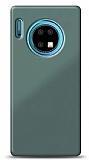 Eiroo Glass Huawei Mate 30 Silikon Kenarlı Cam Yeşil Kılıf