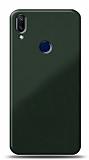 Eiroo Glass Samsung Galaxy A40 Silikon Kenarlı Cam Koyu Yeşil Kılıf