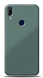 Eiroo Glass Samsung Galaxy A40 Silikon Kenarlı Cam Yeşil Kılıf