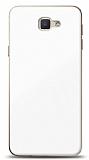 Eiroo Glass Samsung Galaxy J7 Prime / J7 Prime 2 Silikon Kenarlı Cam Beyaz Kılıf