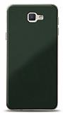 Eiroo Glass Samsung Galaxy J7 Prime / J7 Prime 2 Silikon Kenarlı Cam Koyu Yeşil Kılıf